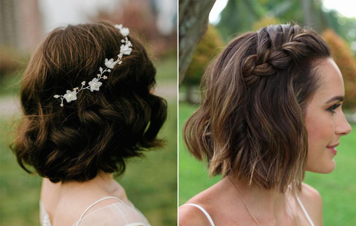 свадебные причёски на каре фото